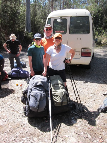 Start of the Walls of Jerusalem hiking adventure. Can we really carry this much weight for 6 days straight in Tasmanian wilderness?